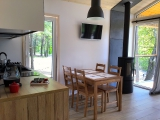 Domek L salon z kuchnią